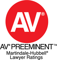 AV Preeminent Martindale Hubbel Lawyer Ratings